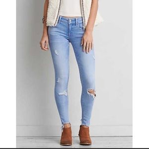 American Eagle Super Low AEO X Jegging (Size 16)